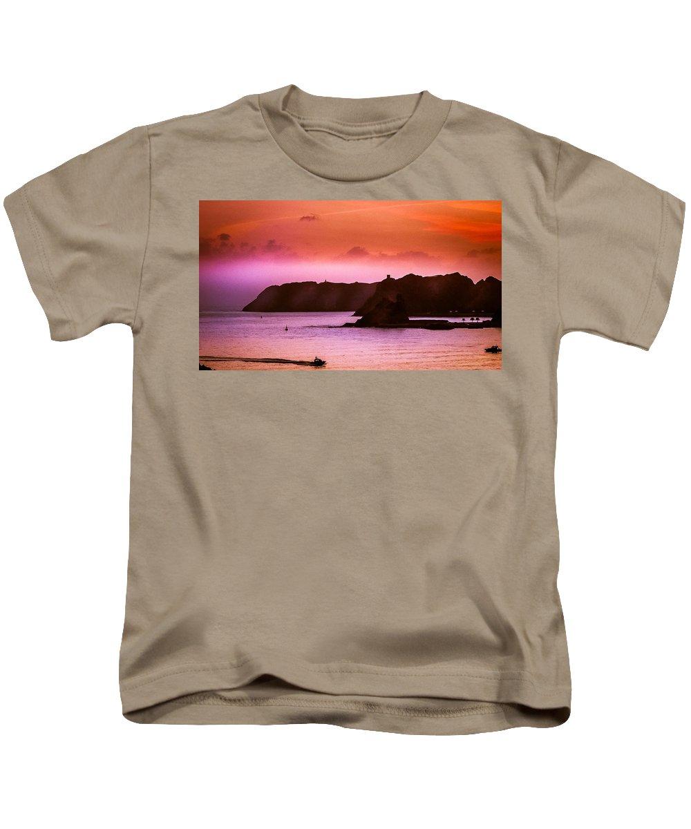 Seascape Kids T-Shirt featuring the photograph Dramatic Seascape by Chris Patel