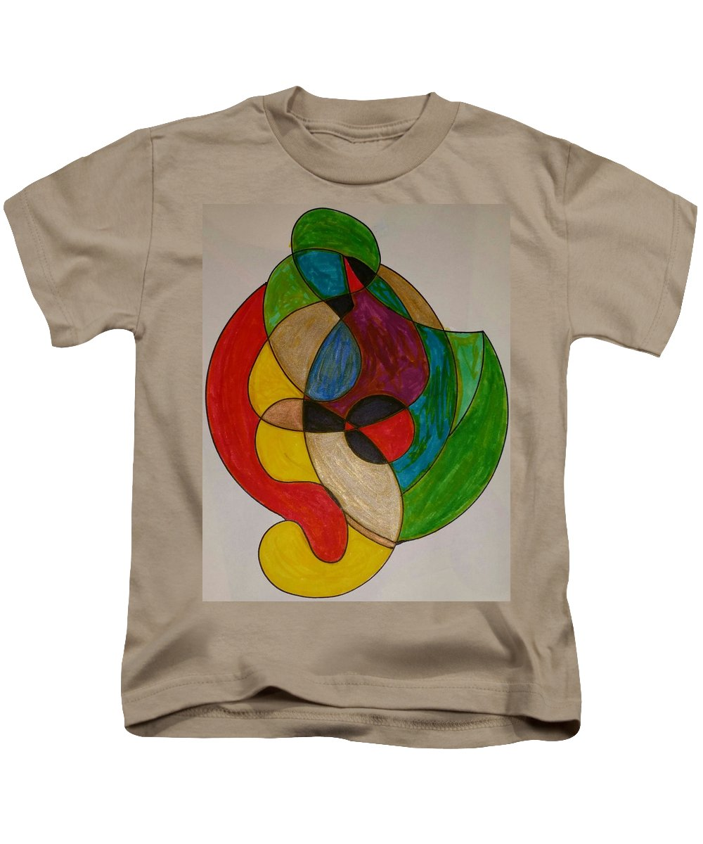 Geometric Art Kids T-Shirt featuring the glass art Dream 4 by S S-ray