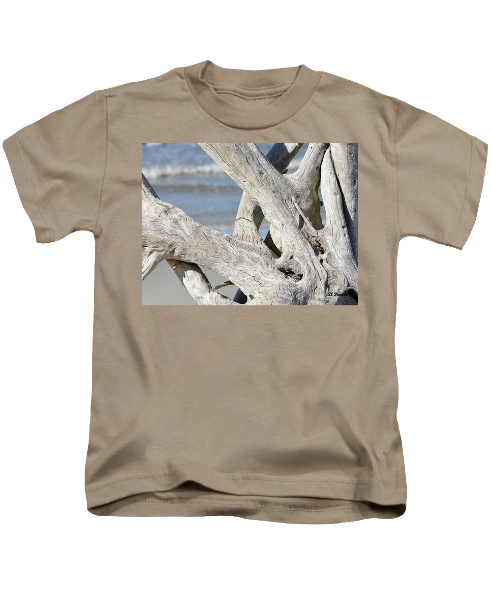 Driftwood Kids T-Shirt featuring the photograph Driftwood Detail by Al Powell Photography USA