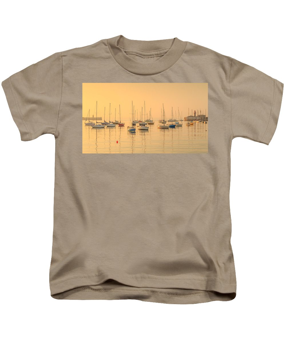Dun Laoghaire Kids T-Shirt featuring the photograph Dun Laoghaire by Robert Kelly