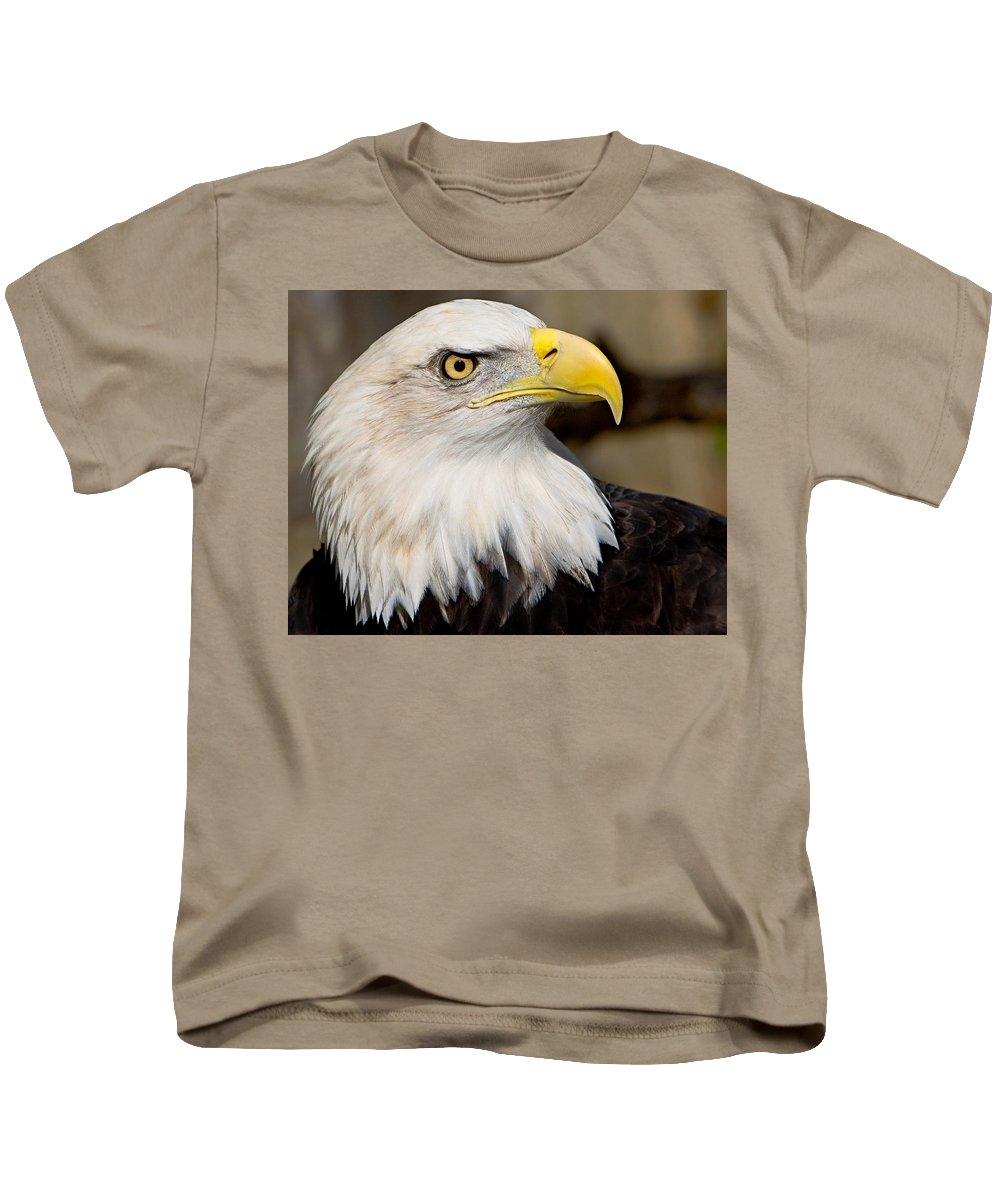 Eagle Kids T-Shirt featuring the photograph Eagle Power by William Jobes