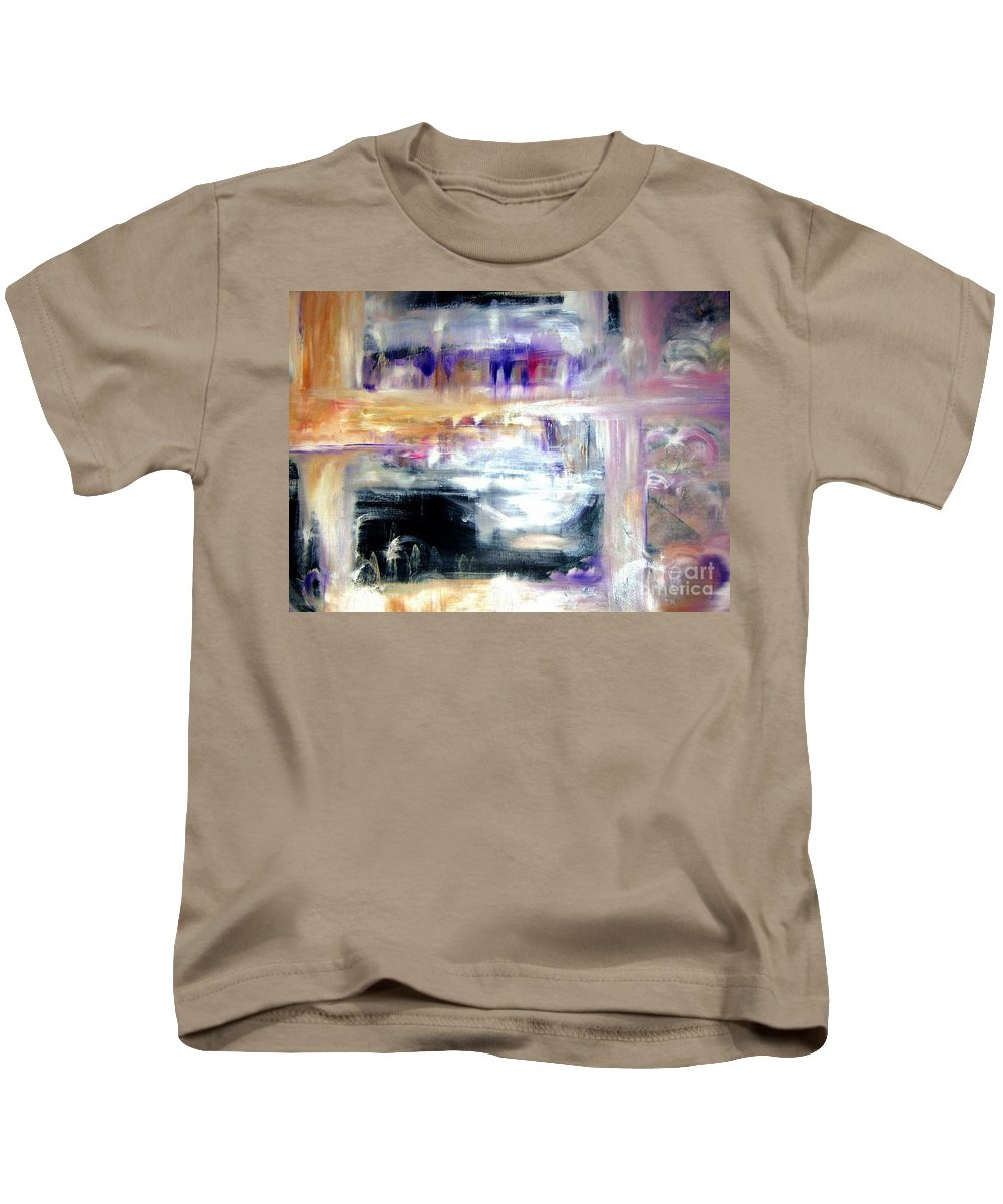 Glow Kids T-Shirt featuring the painting Earthen Vessel by Sandy Ryan