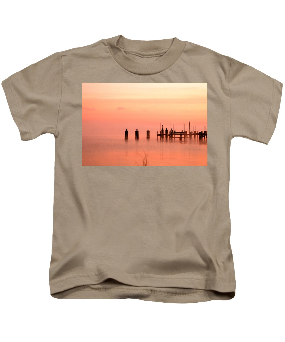 Clay Kids T-Shirt featuring the photograph Eery Morn by Clayton Bruster