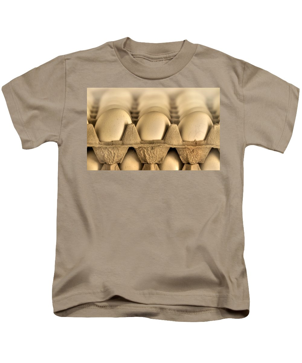 Blur Kids T-Shirt featuring the photograph Eggs by Evelina Kremsdorf