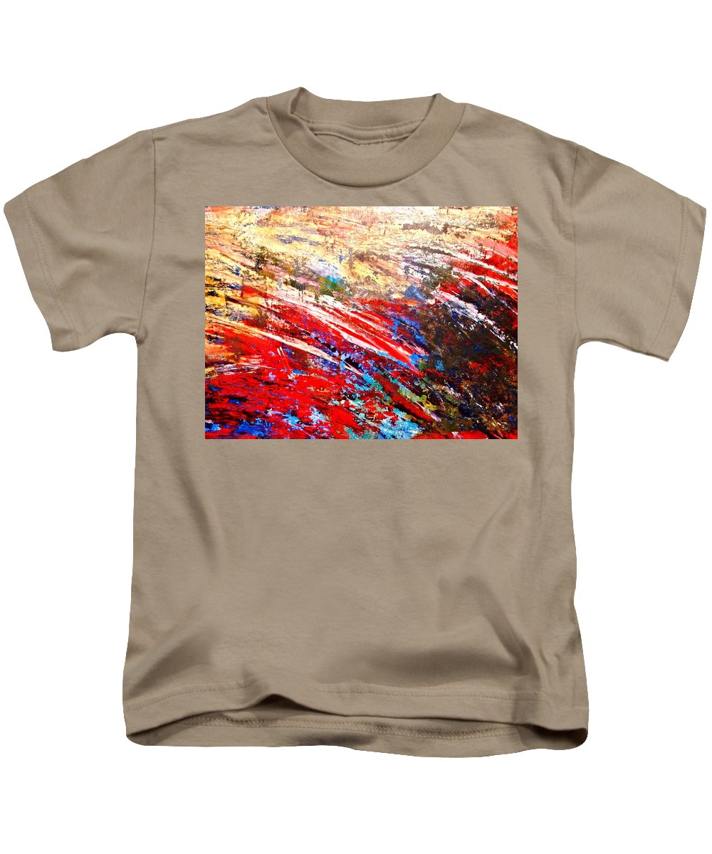 Expressionism Kids T-Shirt featuring the painting Emotional Explosion by Natalie Holland