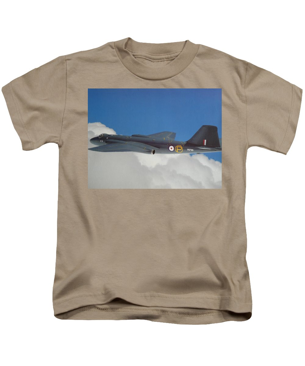 English Kids T-Shirt featuring the photograph English Electric Canberra T4 by Ted Denyer