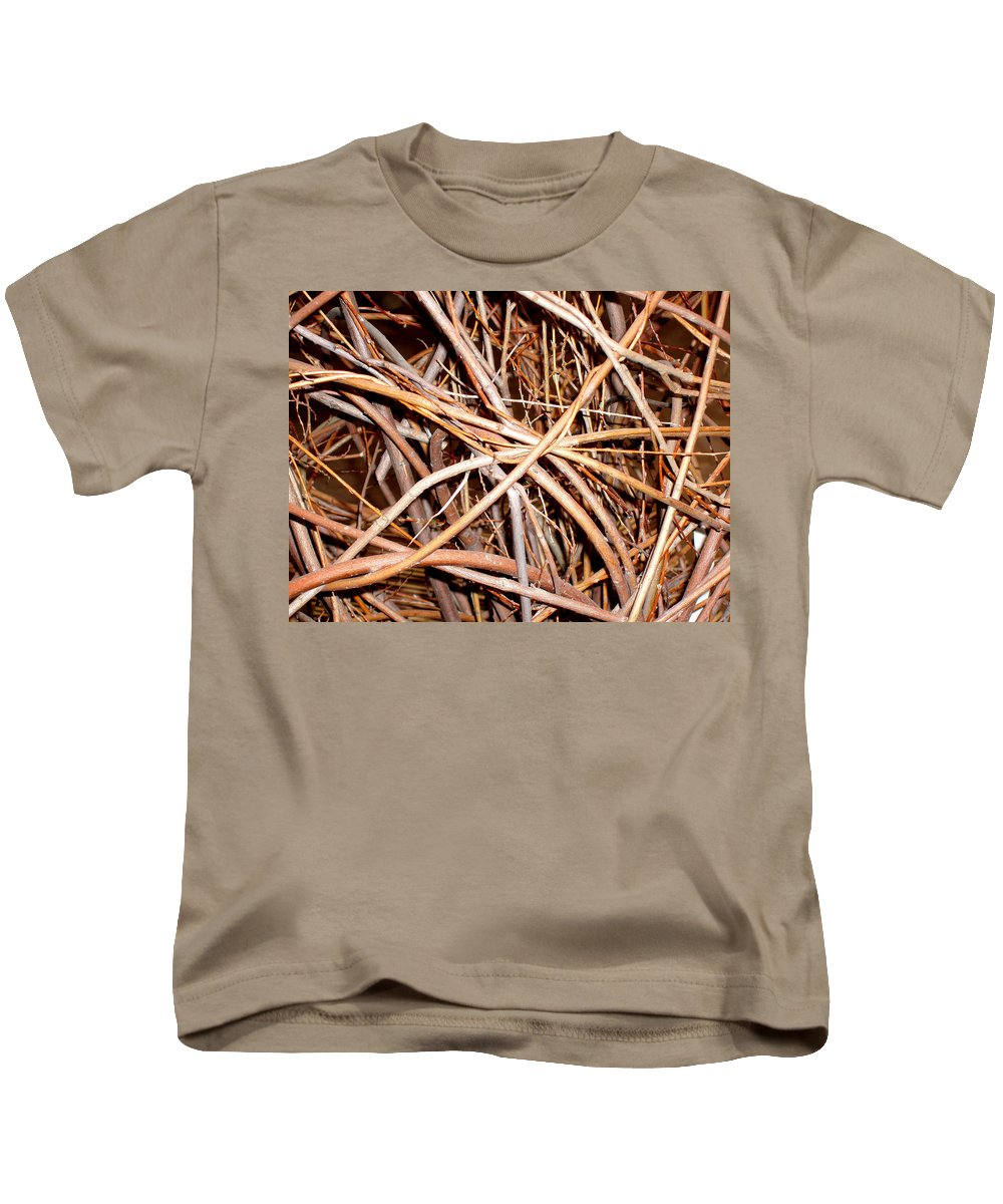 Vines Kids T-Shirt featuring the photograph Entangled by Wayne Potrafka