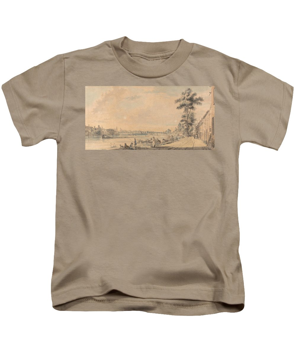 Paul Sandby Kids T-Shirt featuring the painting Eton College From The South by Paul Sandby
