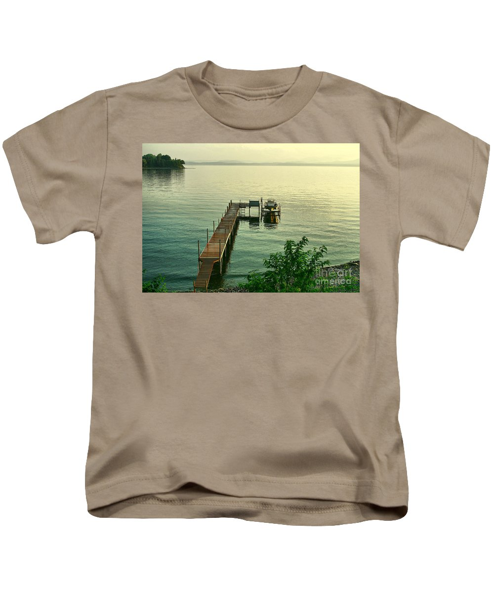 Lake Kids T-Shirt featuring the photograph Evening In Charlotte by Deborah Benoit