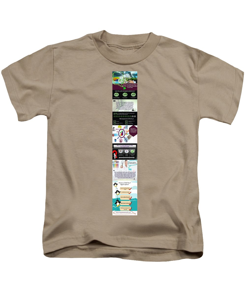 Excel Troubleshooting Kids T-Shirt featuring the digital art Excel Troubleshooting To Fix Corrupt/damaged Excel File by Alice Jolly