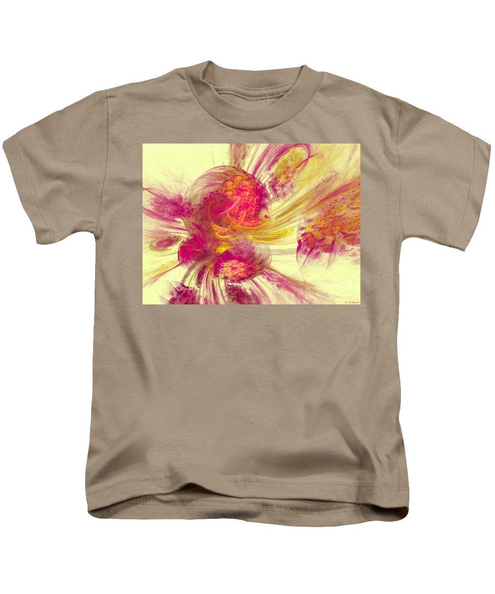 Pink Kids T-Shirt featuring the digital art Explosion Of Color by Deborah Benoit