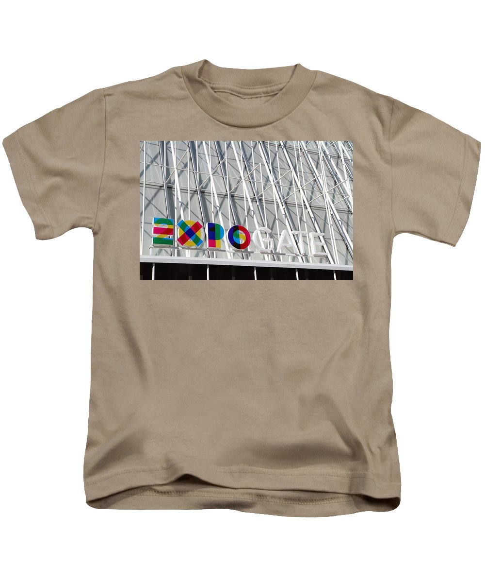 2015 Kids T-Shirt featuring the photograph Expo Gate by Valentino Visentini