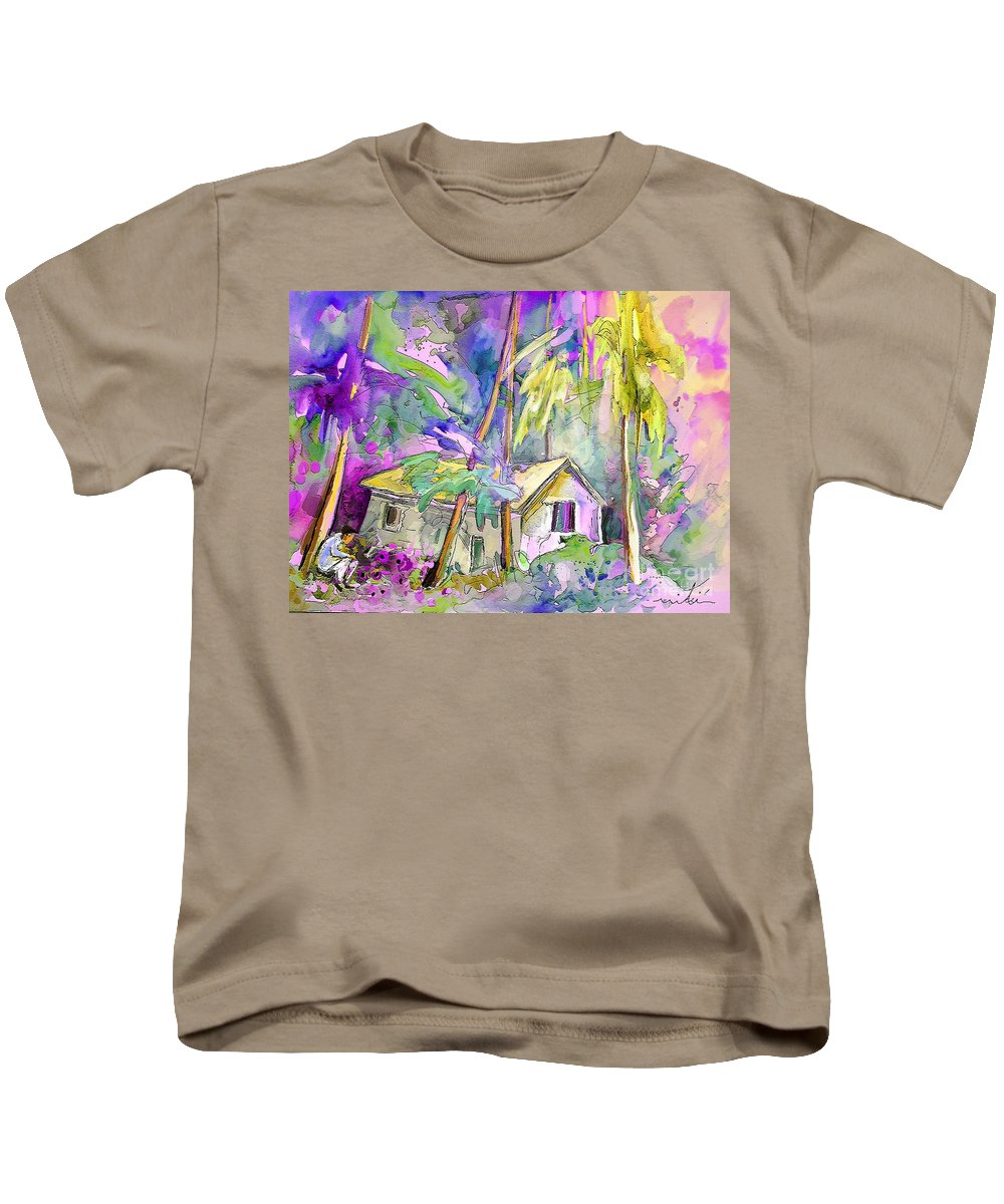 Fantasy Kids T-Shirt featuring the painting Fantaquarelle 08 by Miki De Goodaboom