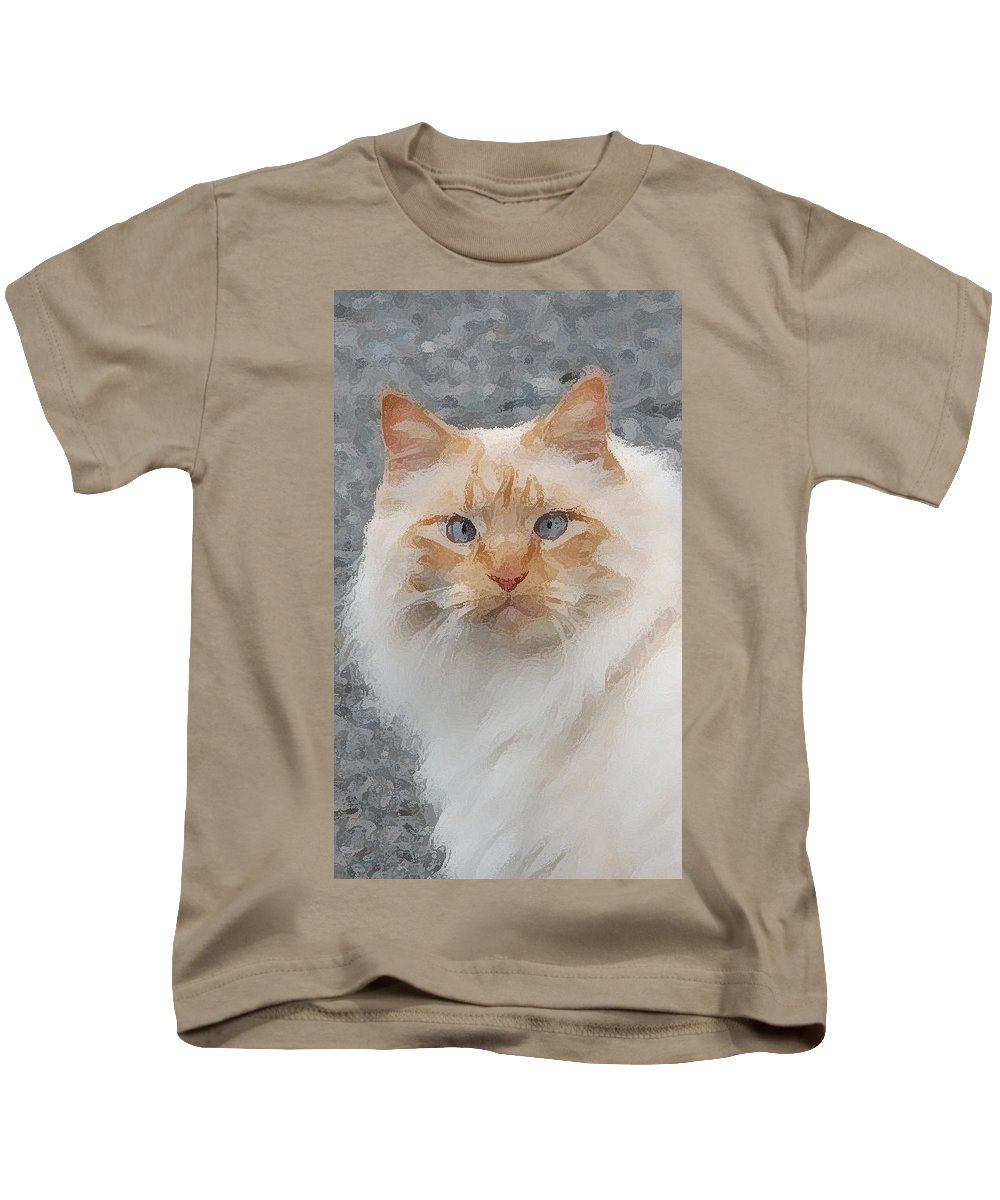 Cat Kids T-Shirt featuring the photograph Fat Cats Of Ballard II Greeting Card by Carol Eliassen