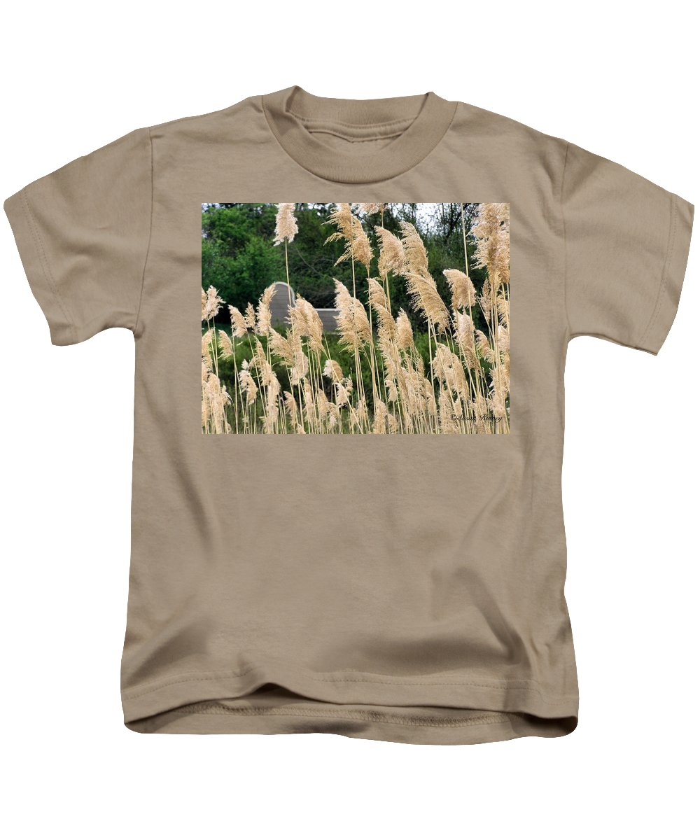 Weeds Kids T-Shirt featuring the photograph Feathers by Susan Kinney