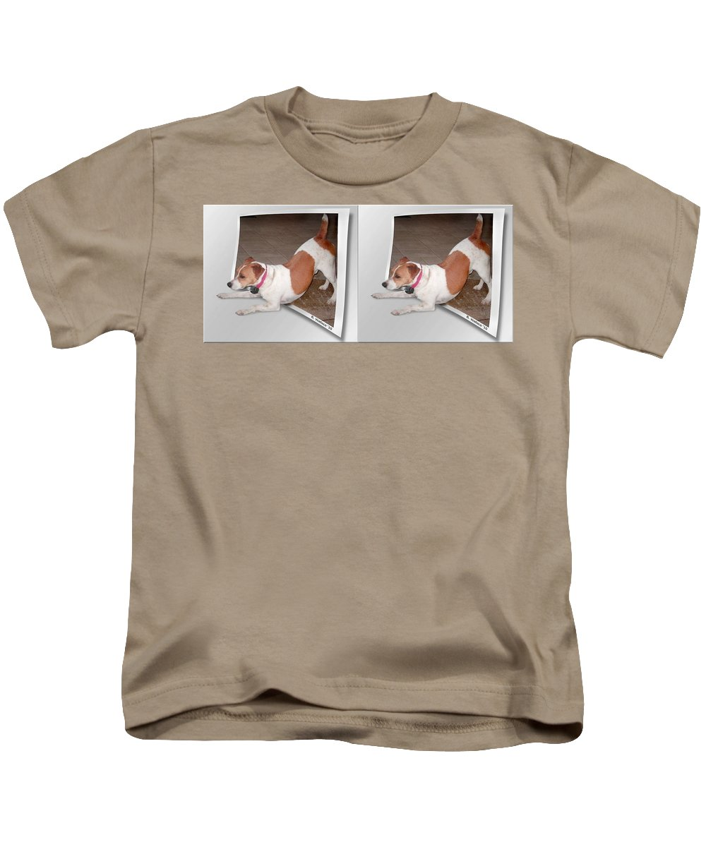 3d Kids T-Shirt featuring the photograph Feeling Frisky - Cross Your Eyes And Focus On The Middle Image by Brian Wallace