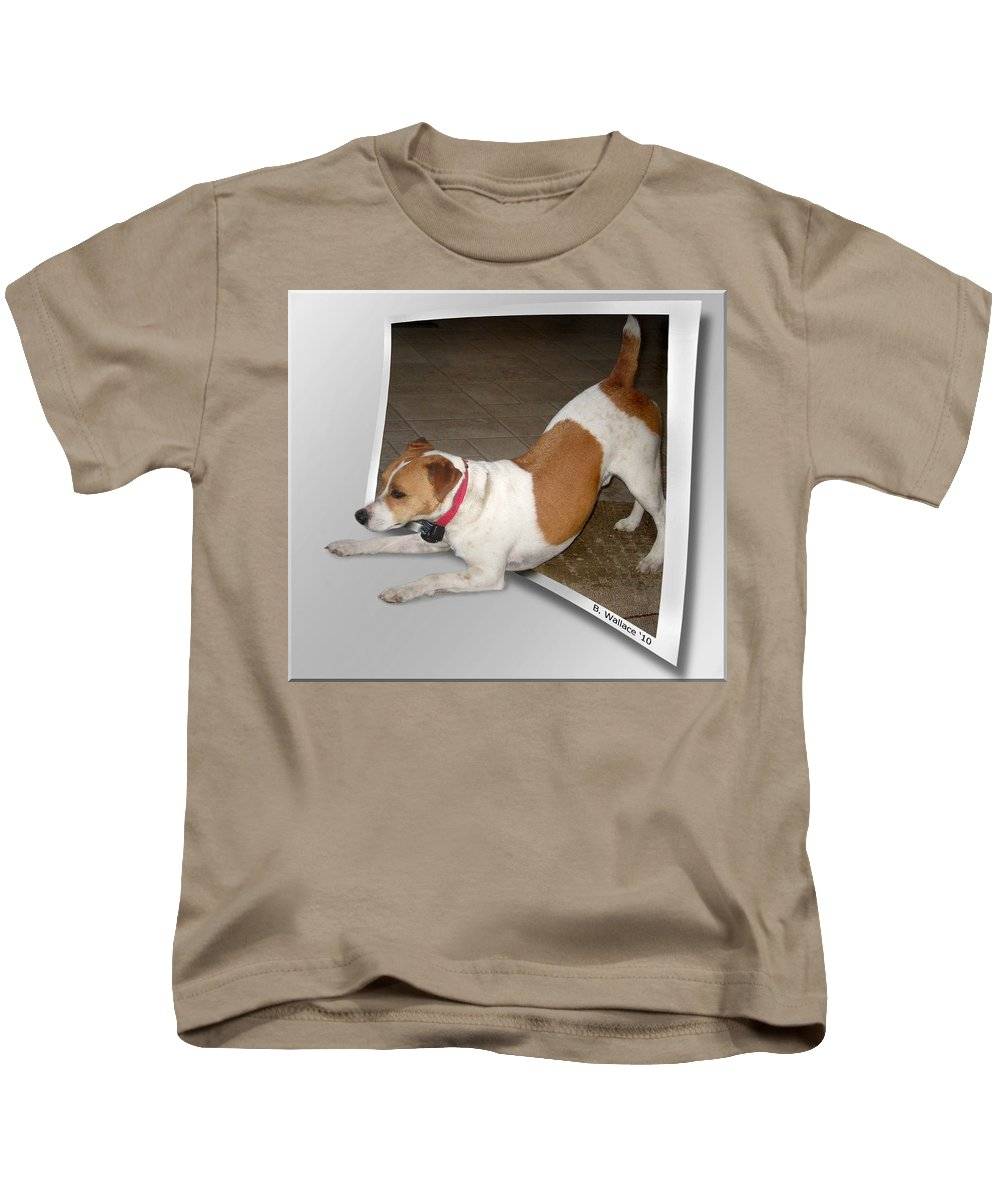 2d Kids T-Shirt featuring the photograph Feeling Frisky by Brian Wallace