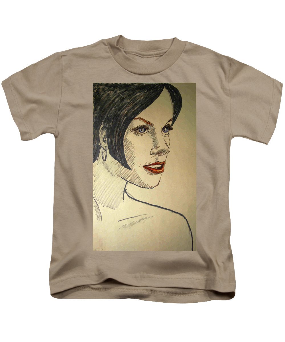 2d Kids T-Shirt featuring the photograph Felt Tip Female by Brian Wallace