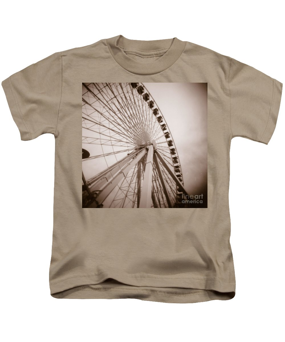 Fine Art Photography Kids T-Shirt featuring the photograph Ferris Wheel by Crystal Nederman