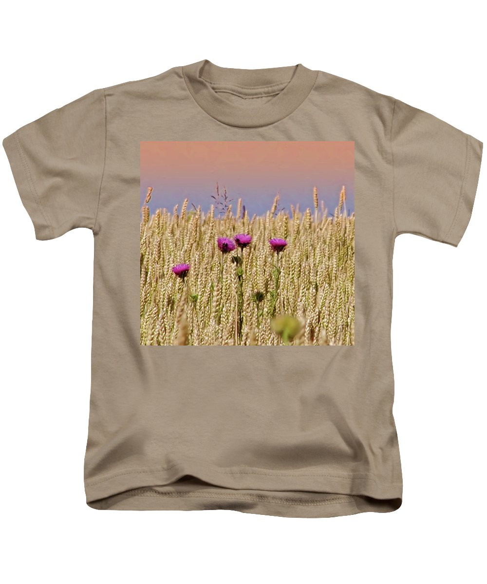 Field Kids T-Shirt featuring the photograph Field Of Dreams by Bill Cannon