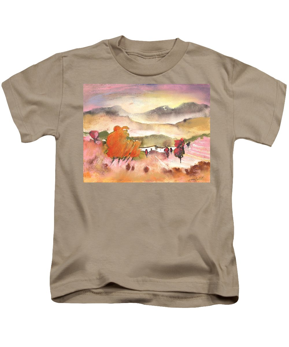 Travel Kids T-Shirt featuring the painting Finca In Spain by Miki De Goodaboom