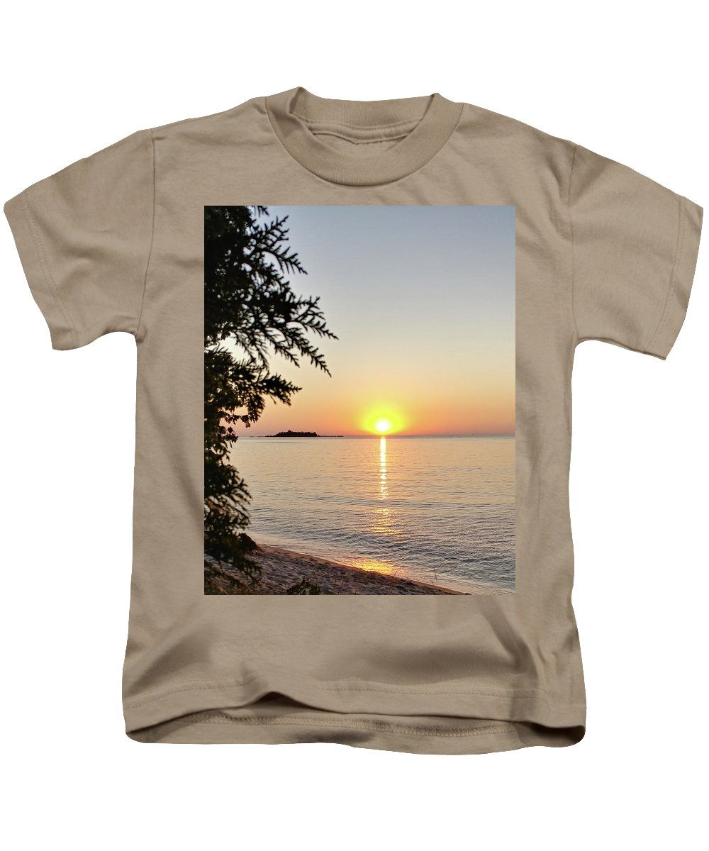 Photograph Kids T-Shirt featuring the photograph Fisherman's Island Sunset by Marcia Wolf