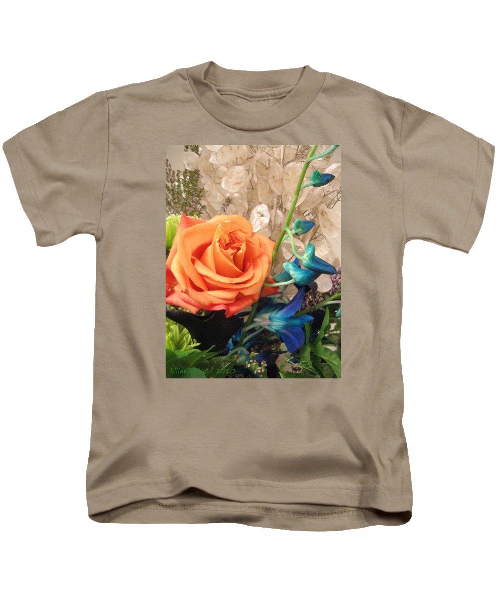 Floral Arrangement Kids T-Shirt featuring the photograph Floral Arrangement by Lillian Hibiscus