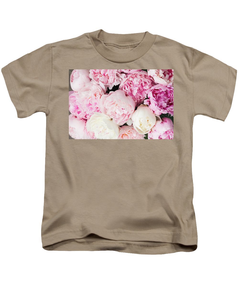 Peony Kids T-Shirt featuring the photograph Peony Song by Anastasy Yarmolovich