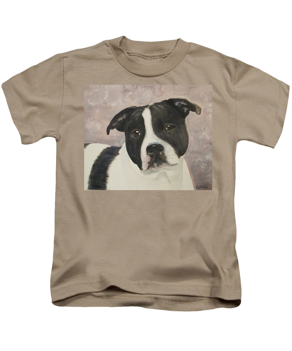 Dog Kids T-Shirt featuring the painting For Me by Ally Benbrook
