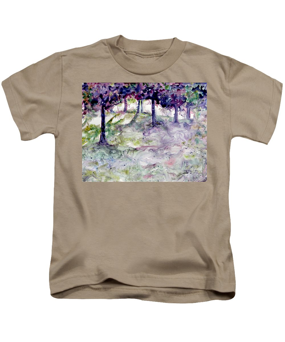 Fastasy Kids T-Shirt featuring the painting Forest Fantasy by Jan Bennicoff