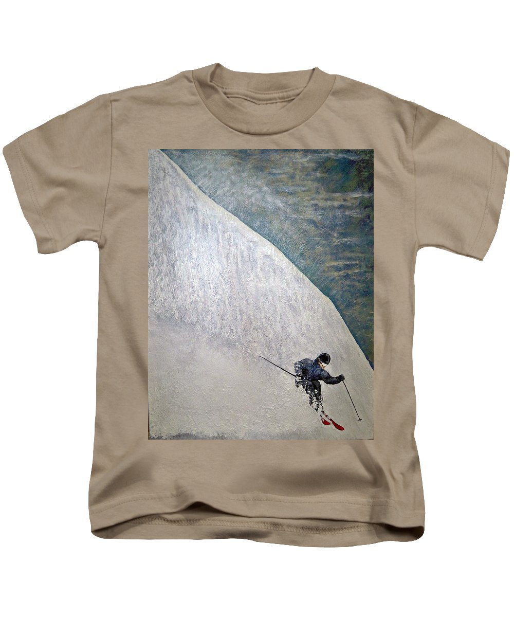 Landscape Kids T-Shirt featuring the painting Form by Michael Cuozzo