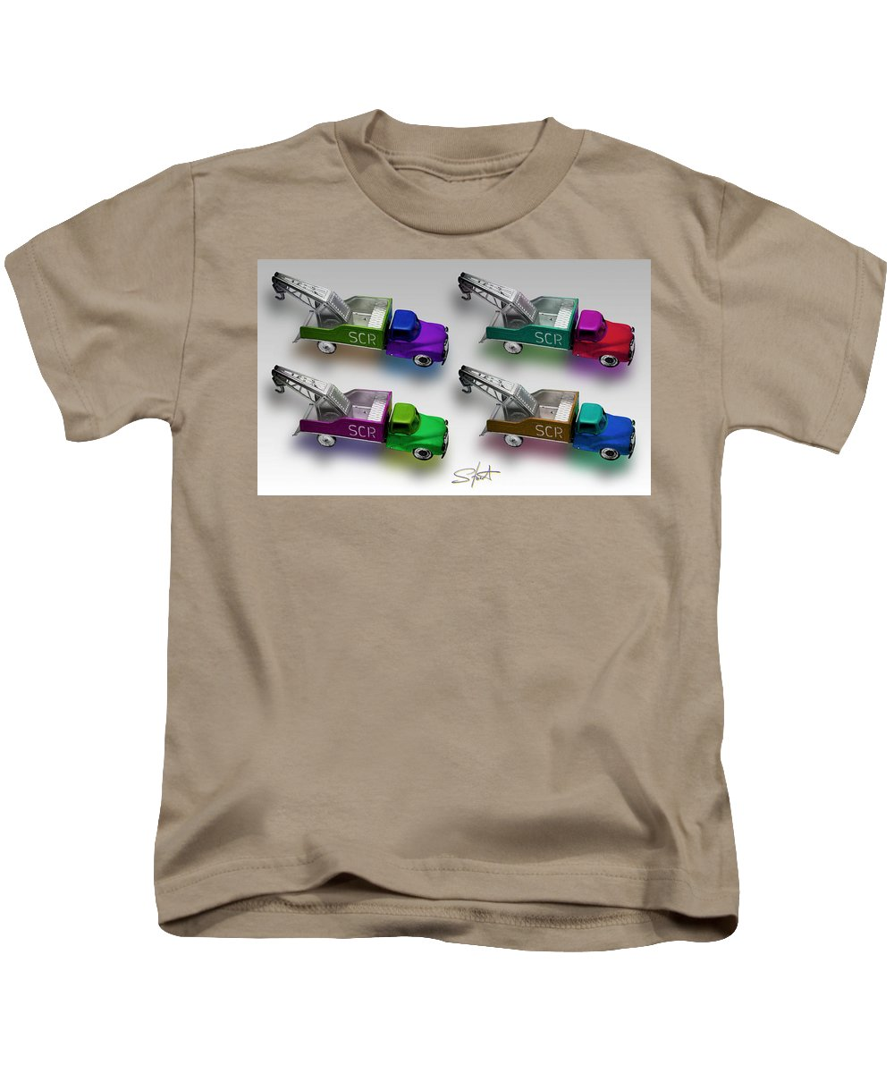 Toy Kids T-Shirt featuring the photograph Four By Four by Charles Stuart