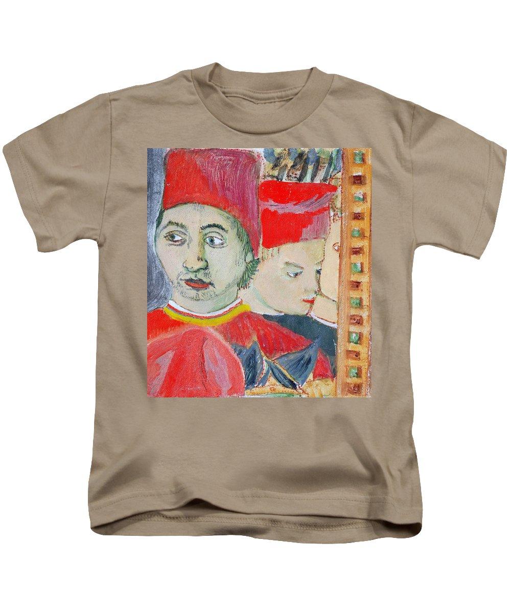 Italian Kids T-Shirt featuring the painting Fratello by Kurt Hausmann