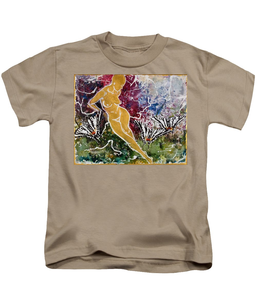 Nude Kids T-Shirt featuring the painting Freedom by Elisabeta Hermann