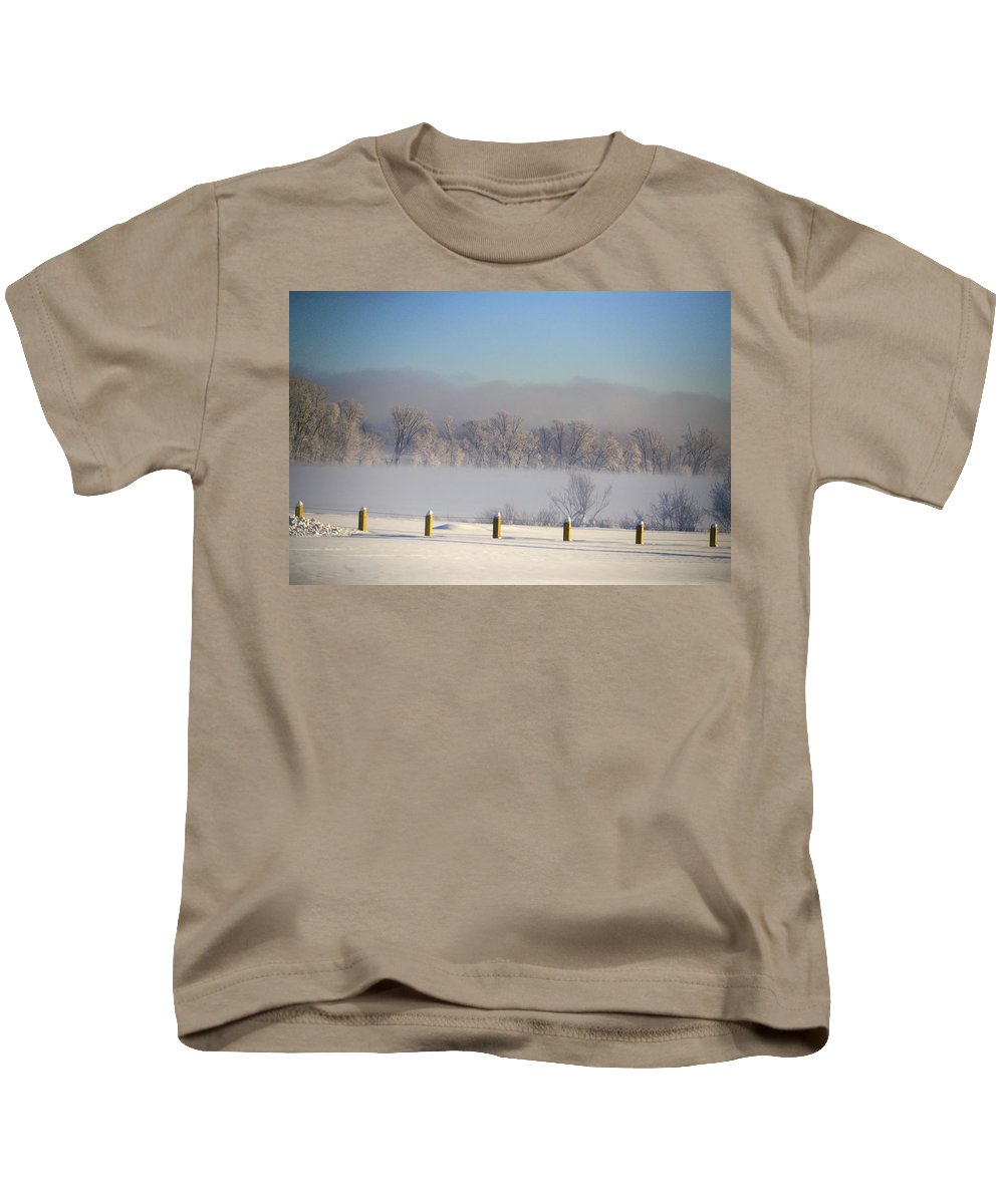 Winter Kids T-Shirt featuring the photograph Frozen Fog by Robert Pearson