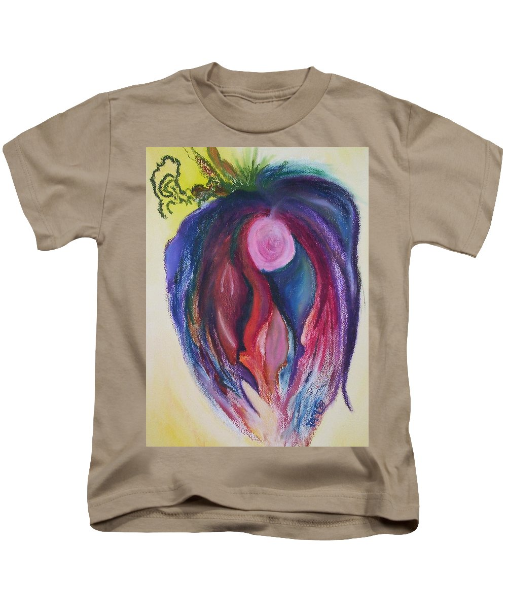 Abstract Kids T-Shirt featuring the painting Fruit by Suzanne Udell Levinger
