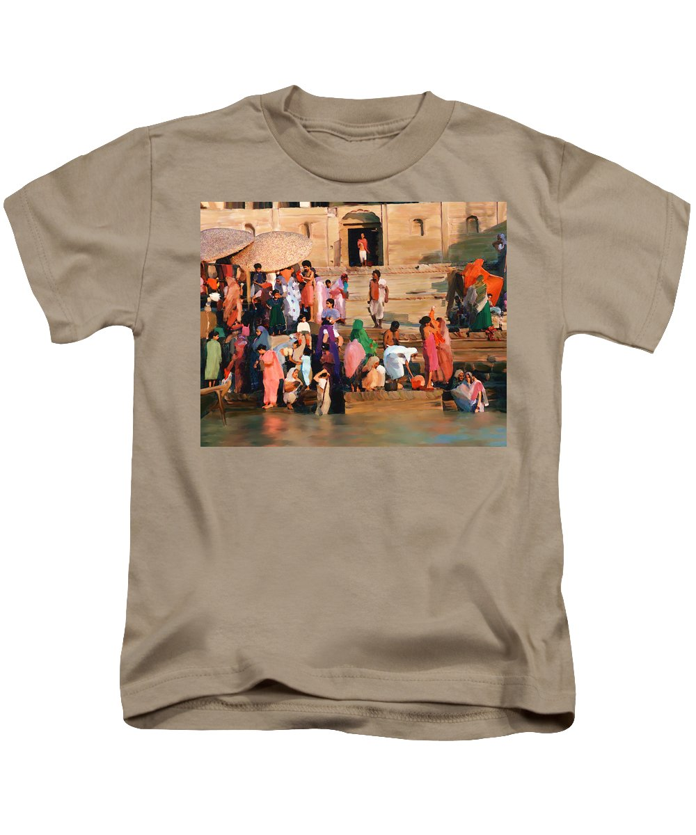 Ganges River Kids T-Shirt featuring the photograph Ganges by Kurt Van Wagner