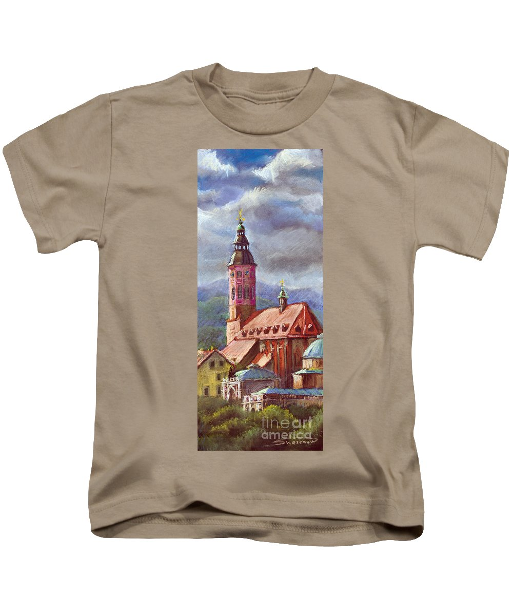 Pastel.germany Kids T-Shirt featuring the painting Germany Baden-baden 05 by Yuriy Shevchuk