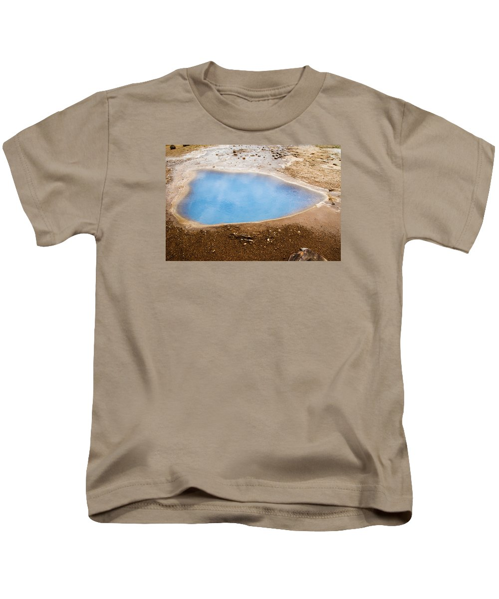 Beautiful Kids T-Shirt featuring the photograph Geysir Area by Claudio Bergero