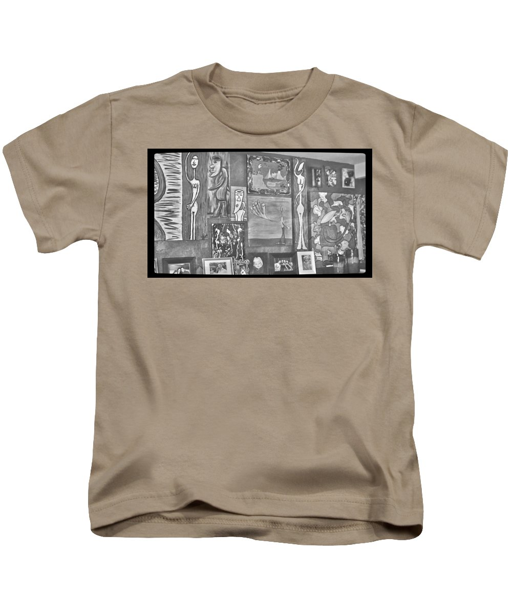 Art Kids T-Shirt featuring the photograph Glimpses Of Where Art Lives 4 by Mario MJ Perron