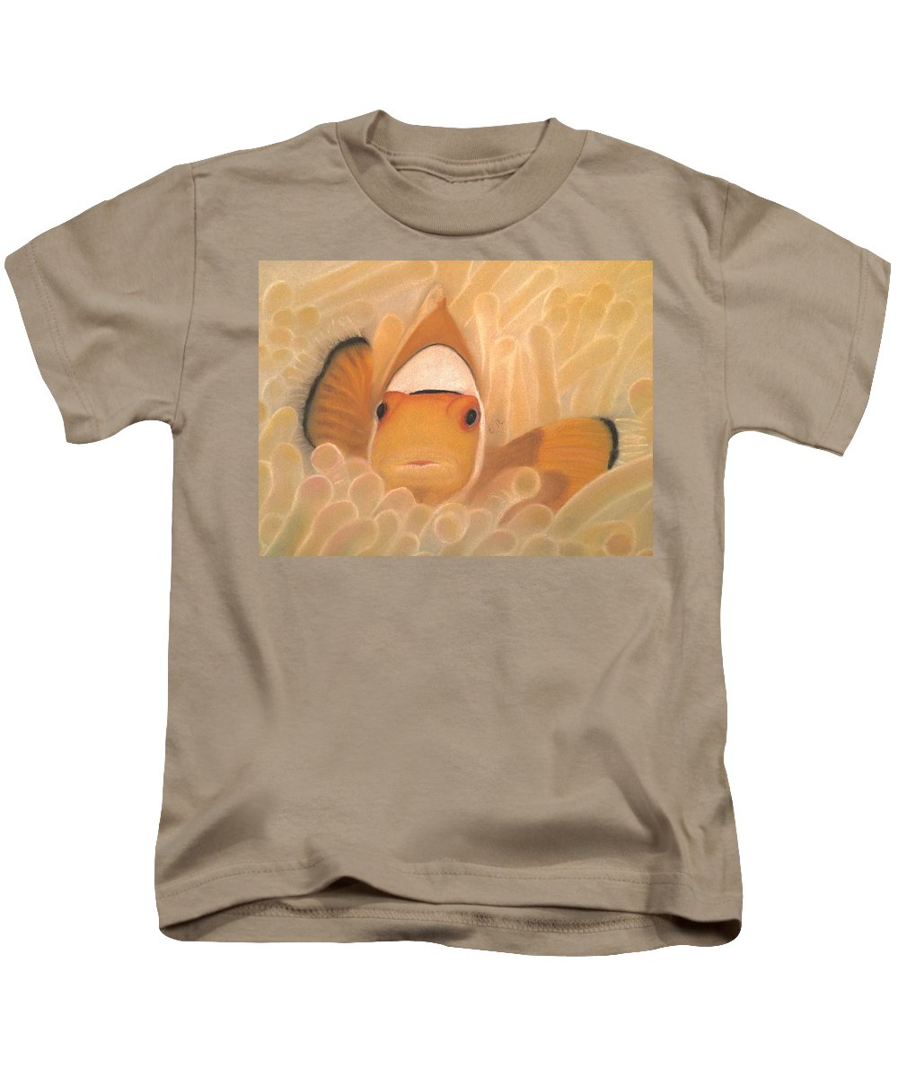 Clownfish Kids T-Shirt featuring the photograph Gold Touch by Eric Rosales