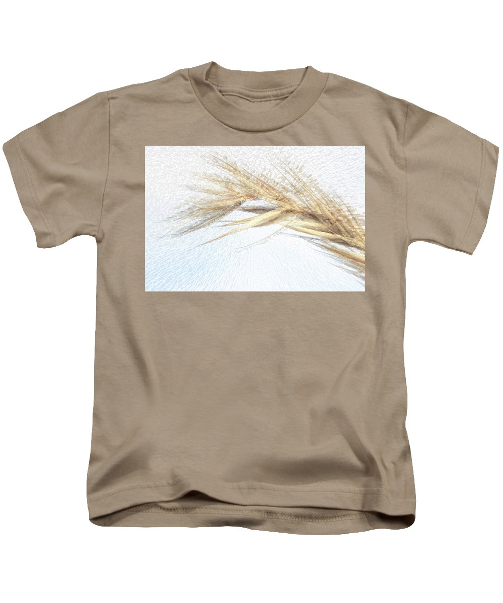 Grass Kids T-Shirt featuring the photograph Grass Abstract by Kathy Paynter