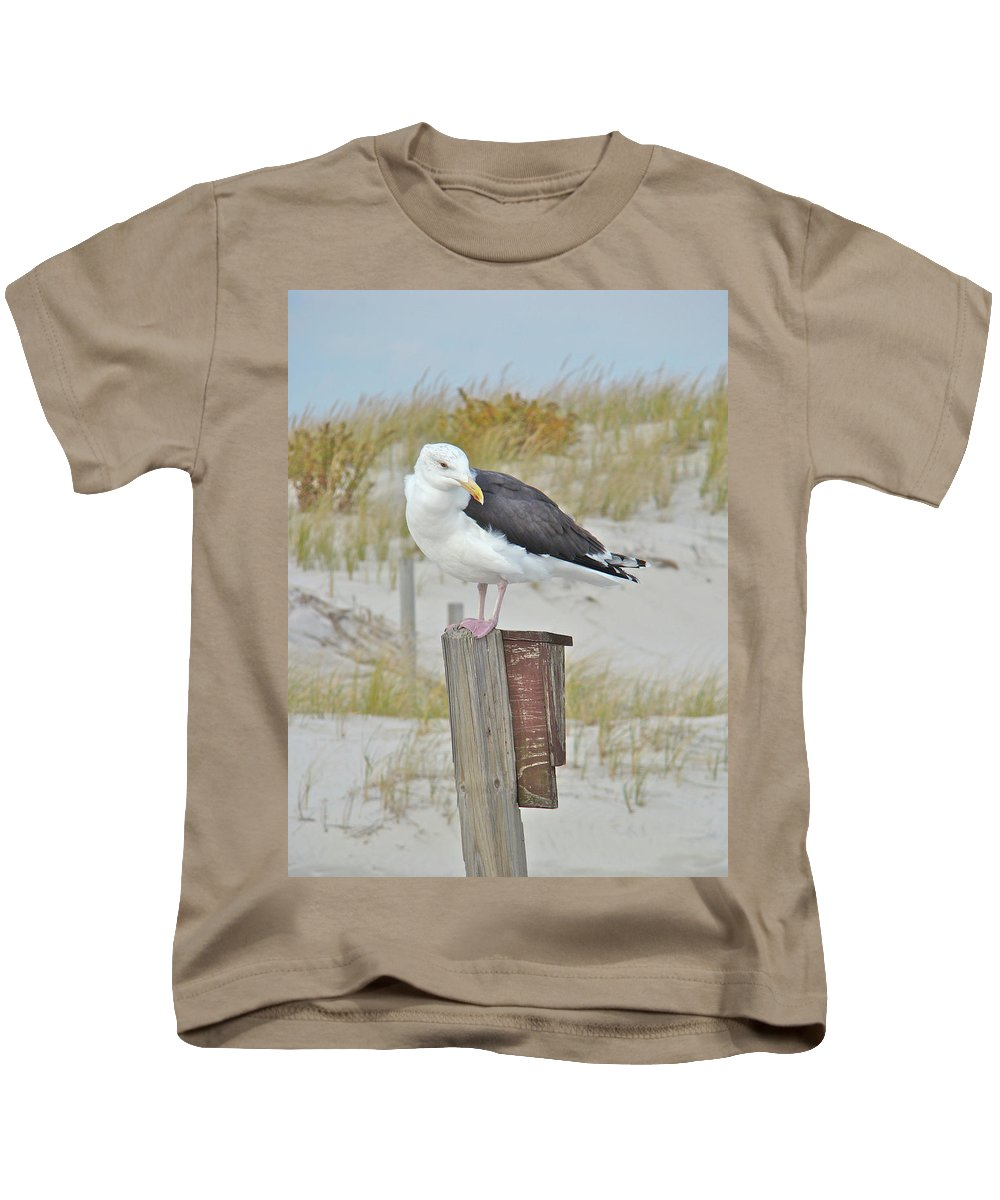Seagull Kids T-Shirt featuring the photograph Great Black Backed Gull - Larus Marinus by Mother Nature