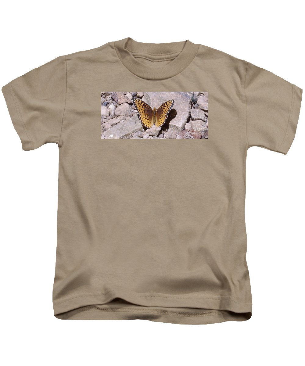 Maryland Great Spangled Fritillary Butterfly Images Photograph Prints Orange Butterfly Images Orange Butterfly Photograph Prints Nature Biodiversity Forest Meadow Kids T-Shirt featuring the photograph Great Spangled Fritillary by Joshua Bales