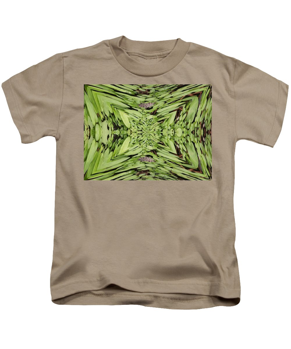 Nature Kids T-Shirt featuring the digital art Ground Cover Vortex by Tim Allen