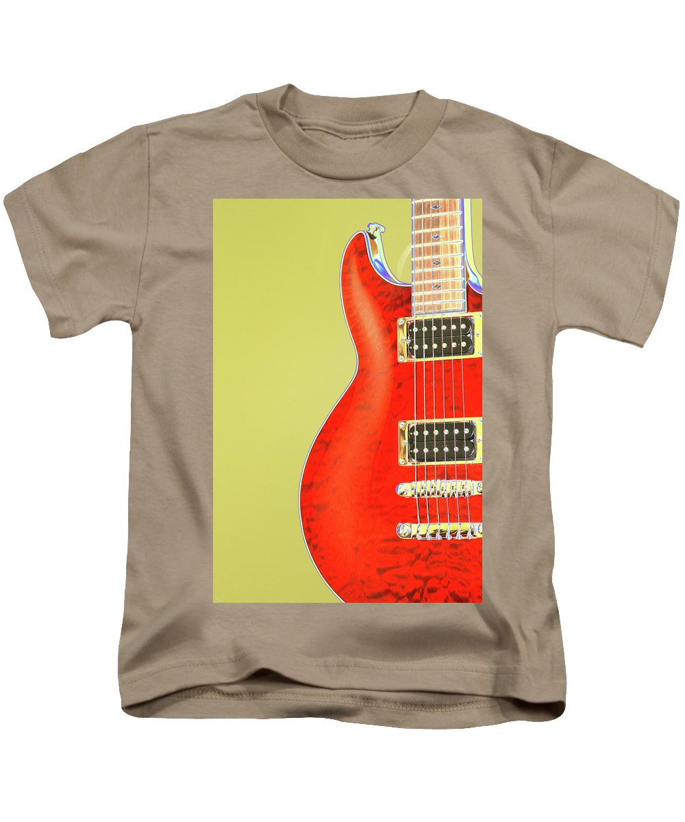 Guitar Kids T-Shirt featuring the photograph Guitar Pic by Karol Livote