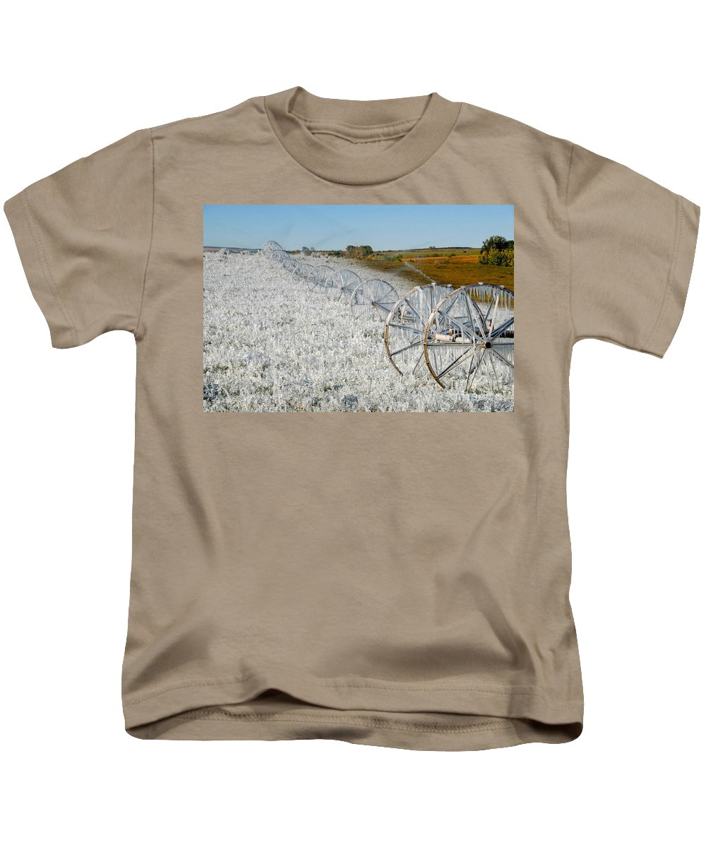 Farm Kids T-Shirt featuring the photograph Hard Land Farming by David Lee Thompson