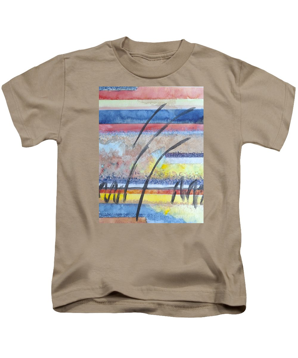 Abstract Kids T-Shirt featuring the painting Heartbeat by Jacqueline Athmann