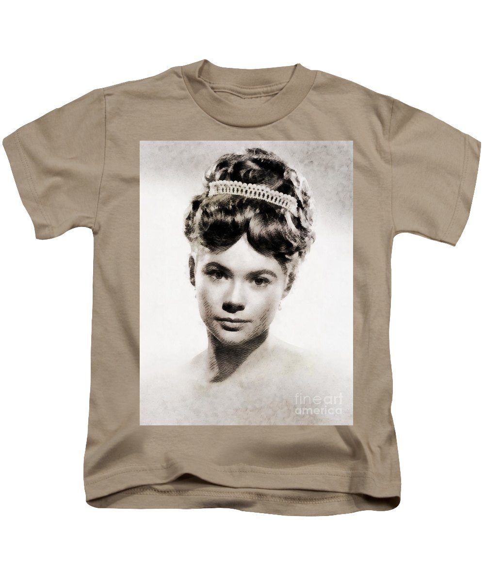 Hollywood Kids T-Shirt featuring the painting Heather Sears, Vintage Actress by John Springfield