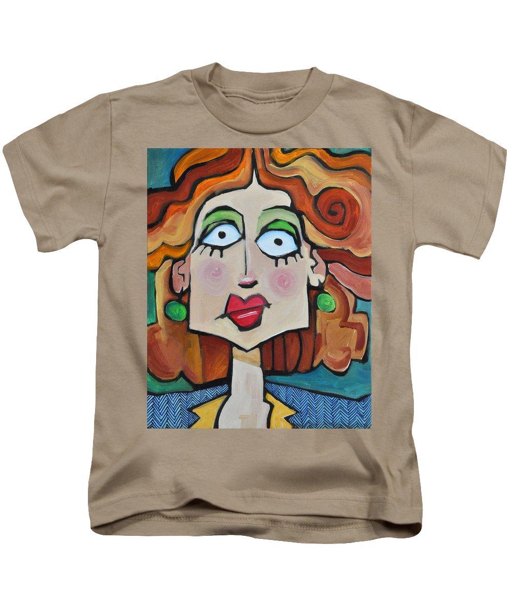 Herringbone Kids T-Shirt featuring the painting Herringbone by Tim Nyberg
